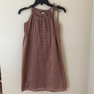 J.Crew Brown Eyelet Cotton Empire Waist Sundress